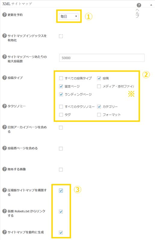 All in One SEO Pack XMLサイトマップ設定