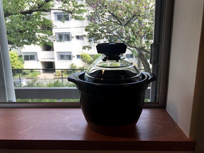HARIO(ハリオ) フタ が ガラスのご飯釜 1~2合