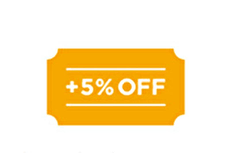 Amazon定期おトク便 おまとめ割引でさらに5%オフ